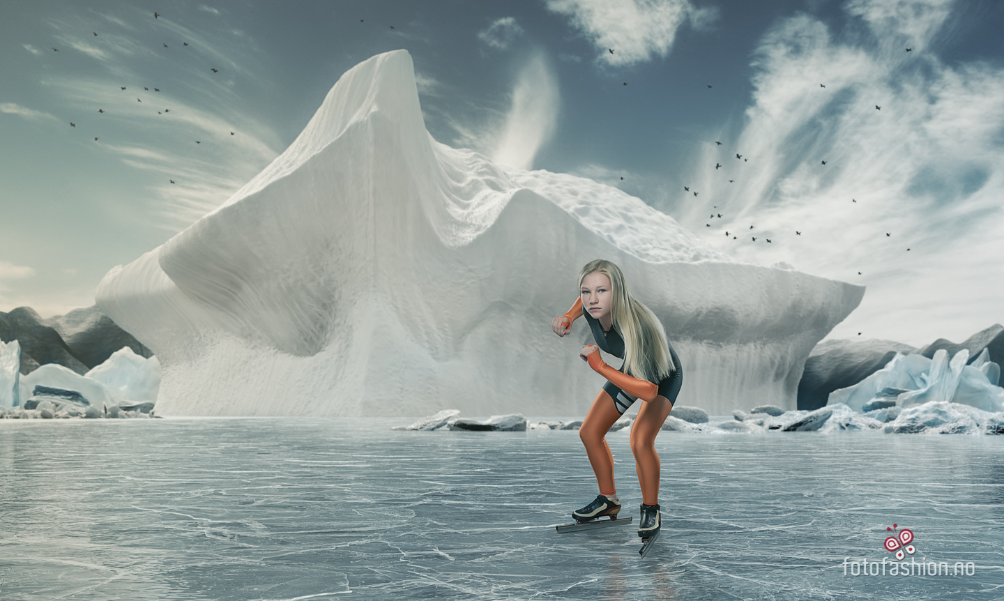 Commercial styled photo, ice skater